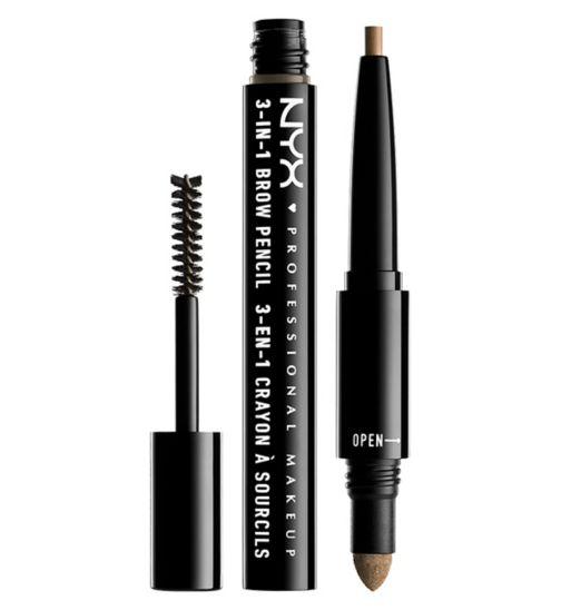 NYX Professional Makeup 3 in 1 Eyebrow Pencil, Powder & Gel