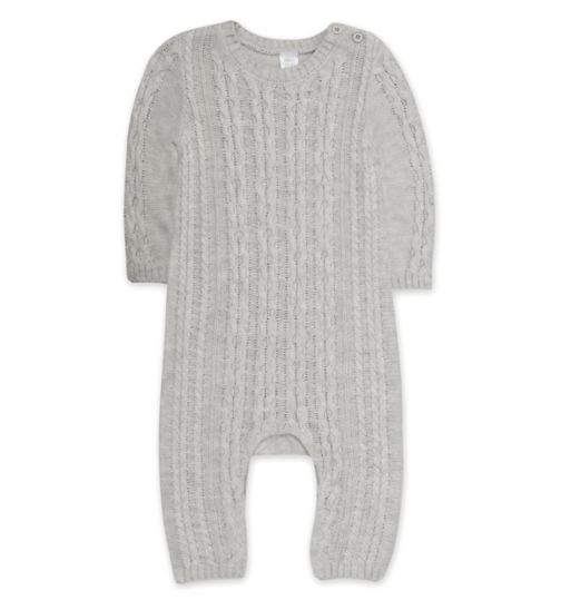 Mini Club Tiny Treasures grey knitted all in one