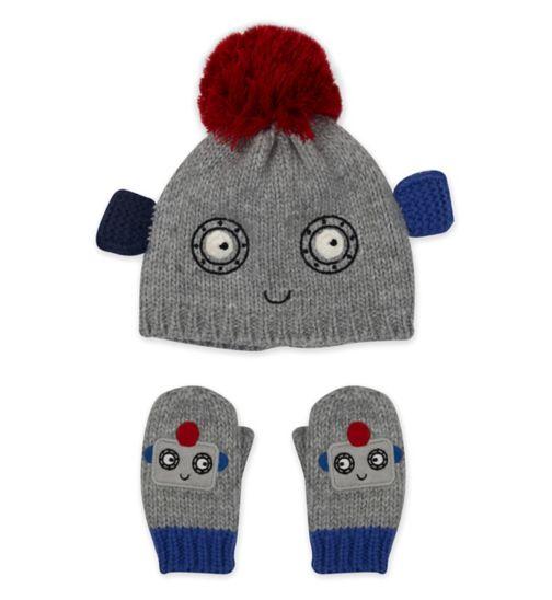 Mini Club Robot Hat and Glove Set