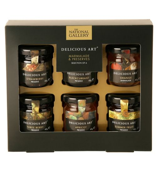 Delicious Art Selection of 6 Mini Preserves
