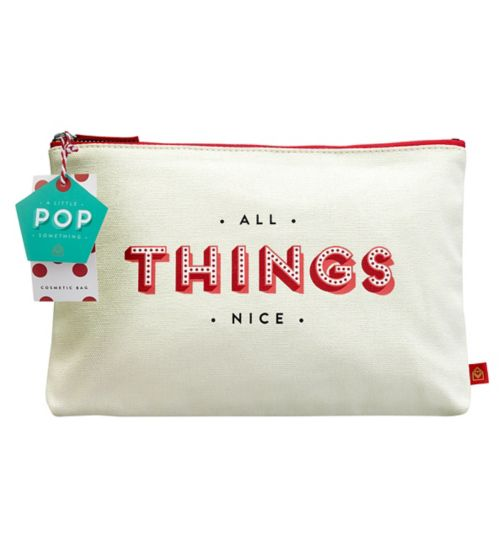 A Little Something festive cosmetic bag