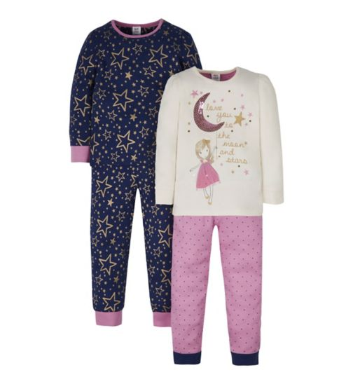Mini Club 2 Pack Fairy Pyjamas