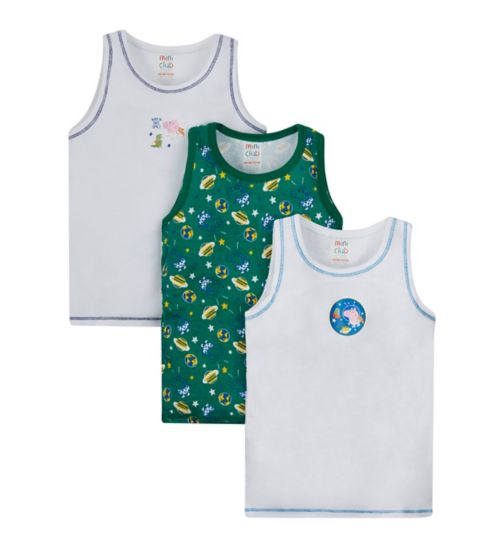 Mini Club Peppa Pig George 3 Pack Vests