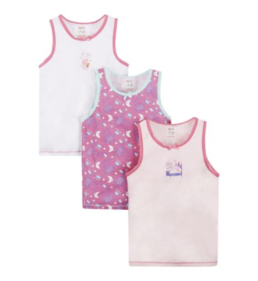 Mini Club Peppa Pig 3 Pack Vests