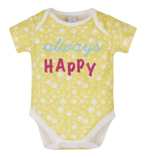 Mini Club Happy Slogan Bodysuit