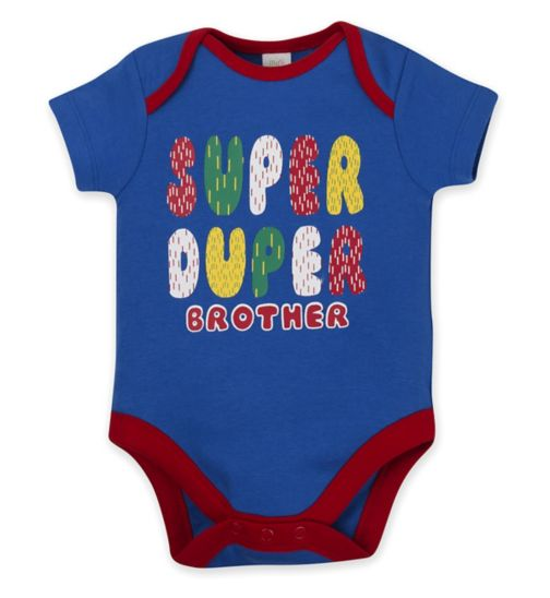 Mini Club Brother Slogan Bodysuit
