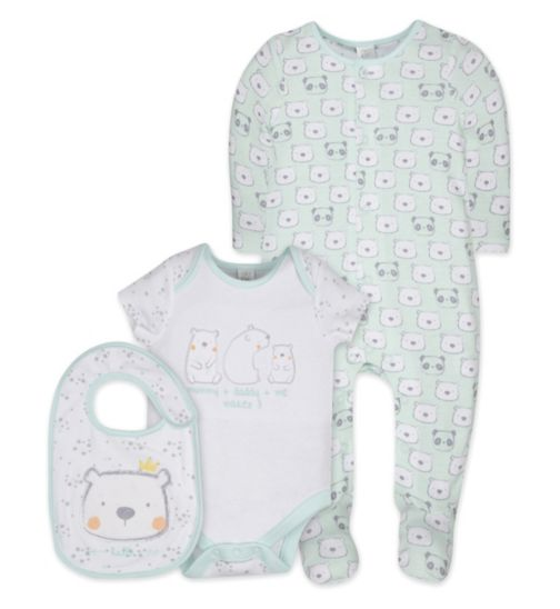 Mini Club Tiny Treasures Bear 3 Piece Set