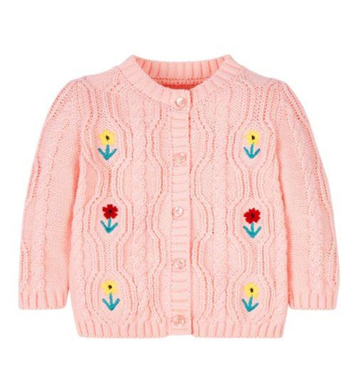 Mini Club Embroidered Cardigan