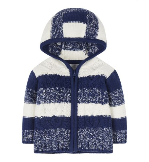 Mini Club Knitted Hooded Cardigan