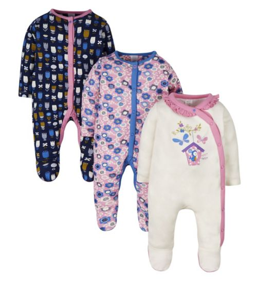 Mini Club 3 Pack Sleepsuits