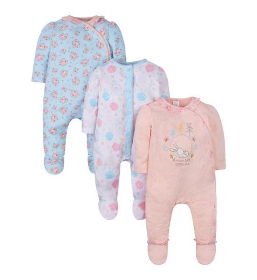 Mini Club 3 Pack Sleepsuits