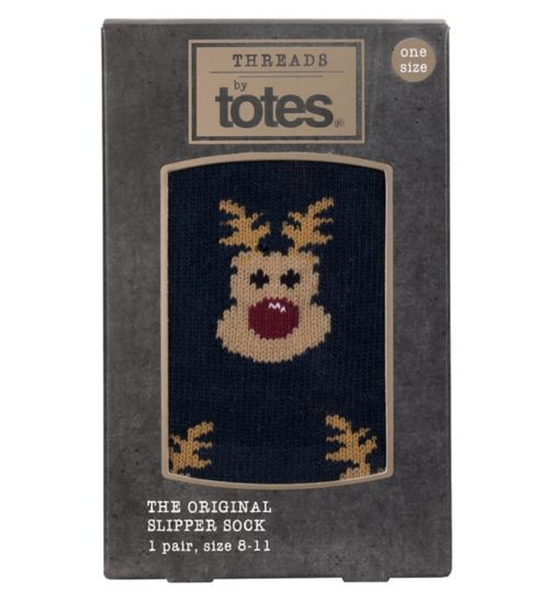 Threads By Totes Original Slipper Socks Reindeer