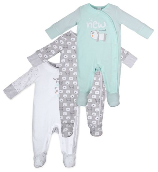 Mini Club Tiny Treasures 3 Pack Sleepsuits