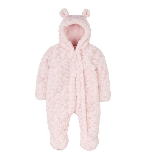 Mini Club Pink Faux Fur Snowsuit