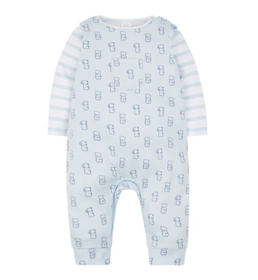 Mini Club Jersey Dungaree Set