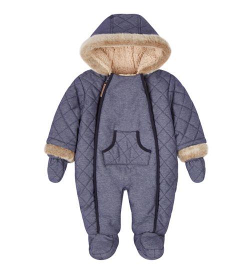 Mini Club Denim Look Snowsuit