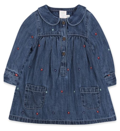 Mini Club Embroidered Denim Dress