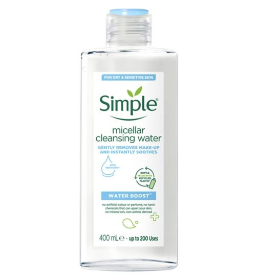 Simple Water Boost Micellar Cleansing Water - 400 ml