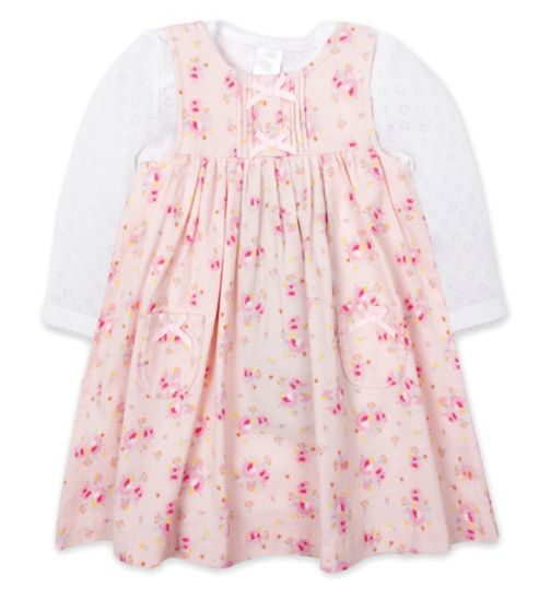 Mini Club Floral Cord Dress and Bodysuit