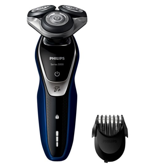 Philips Series 5000 Wet and Dry Men's Electric Shaver S5572/40 with Turbo+ mode & Beard Trimmer