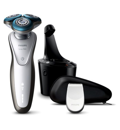 Philips Series 7000 Wet & Dry Men's Electric Shaver S7710/26 with SmartClean system & Precision Trimmer