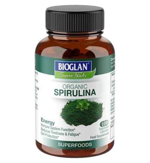 Bioglan Superfood Organic Spirulina 60 C