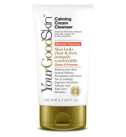 YourGoodSkin Blemish Clearing Calming Cream Cleanser 125ml