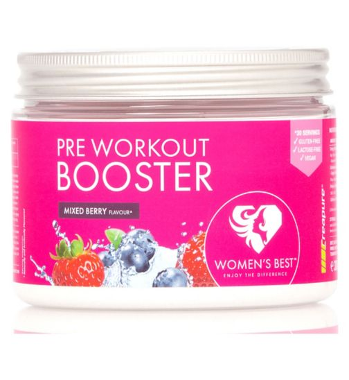 Women's Best Pre Workout Booster - Mixed Berry Flavour (300g)