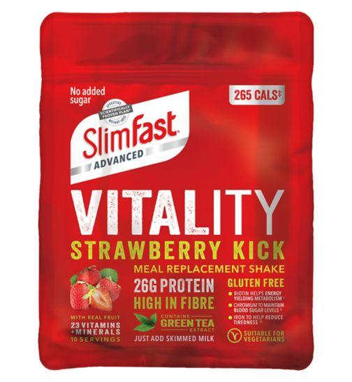 SlimFast Advanced Vitality Shake - Strawberry Kick 440g