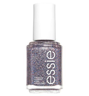essie 511 Congrats Silver Pink Glitter Nail Polish