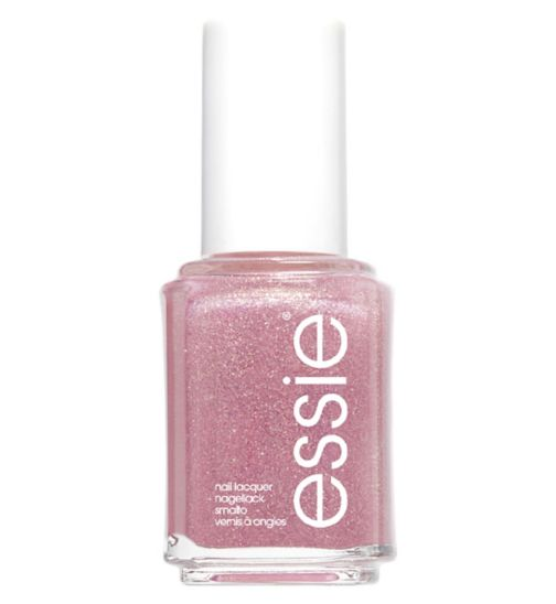 Essie 514 Birthday Girl Gold Pink Glitter Nail Polish