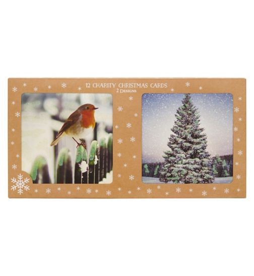 Boots Christmas Boxed Cards -  Robin & Tree