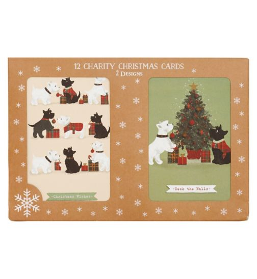 Boots Christmas Boxed Cards - Scotty Dogs