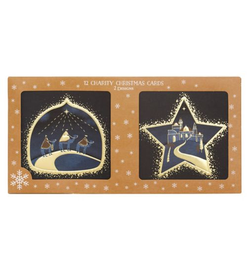 Boots Christmas Boxed Cards - Navy Religious
