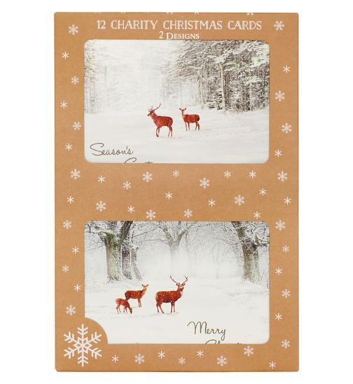 Boots Christmas Boxed Cards -  Winter Stags