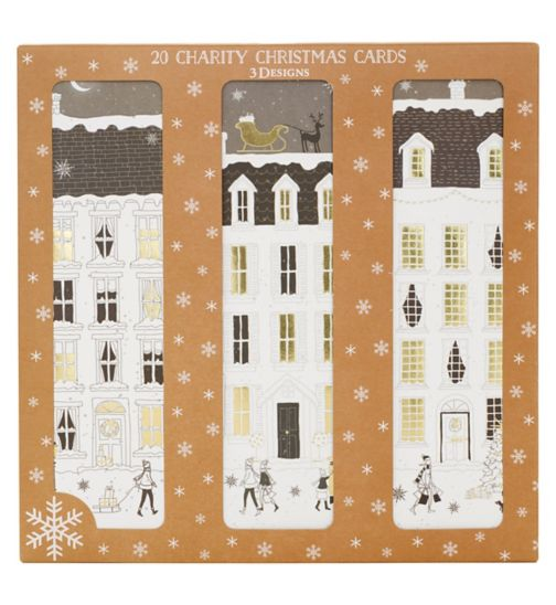 Boots Christmas Boxed Cards - Houses