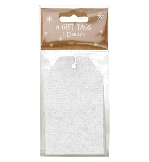 Boots Christmas Plain Silver Tag