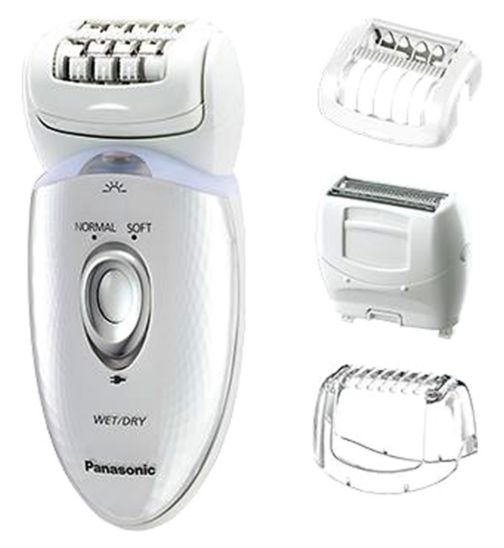 Panasonic ES-ED53 Wet&Dry Cordless epilator/ Dual head, 4 attachments