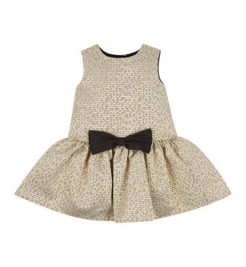 Fearne For Mini Club Gold Party Dress