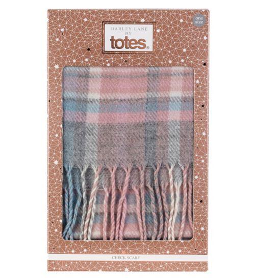 Barley Lane by Totes Check Scarf