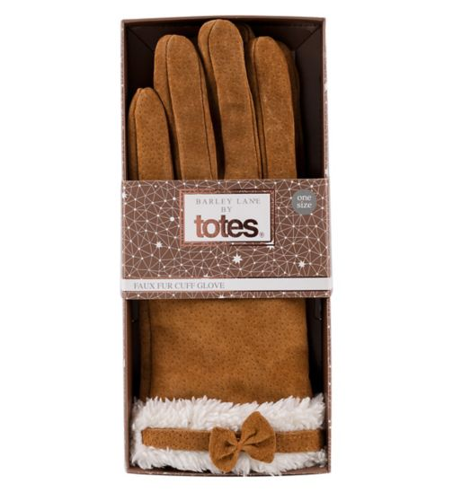 Barley Lane by Totes Suede Gloves S/M