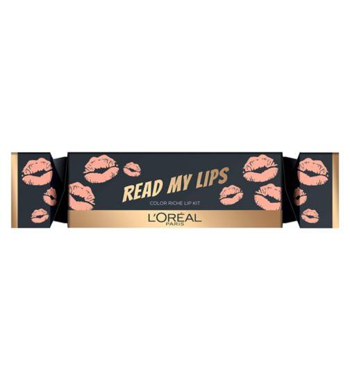L'Oreal Read My Lips Christmas Cracker Lip Kit - Nude