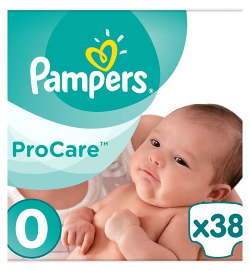 Pampers Procare Premium Protection Size 0, 38 Nappies, 1-2.5kg