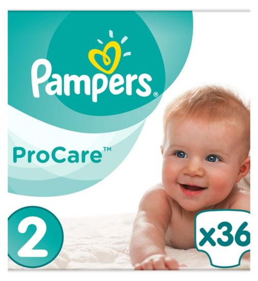 Pampers Procare Premium Protection Size 2, 36 Nappies, 3-6kg