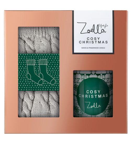 Zoella Cosy Christmas Sock & Candle Gift