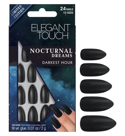 Elegant touch Nocturnal Dreams Nails  Darkest Hour