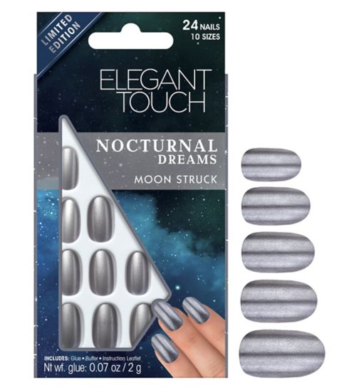 Elegant touch Nocturnal Dreams Nails  Moon struck