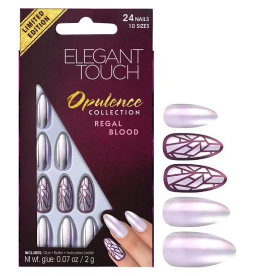 Elegnat touch Opulence Nails Regal Blood