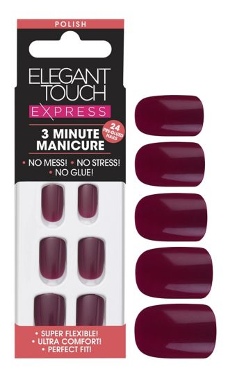 Elegant touch Express Seasonal Nails Deep Berry