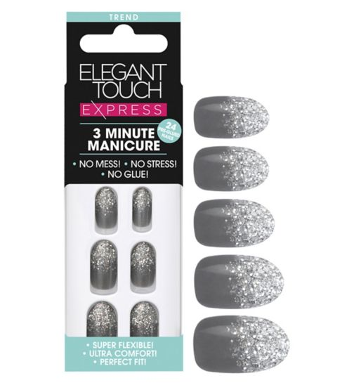 Elegant touch Express Trend Nails Grey Glitter